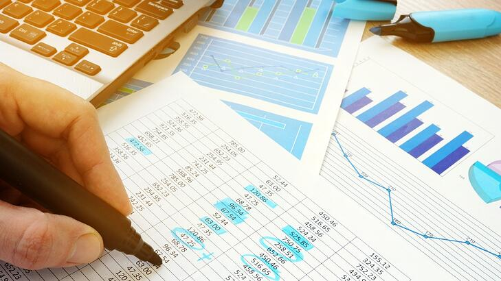 person reviewing financial statements and charts and doing calculations - levels of assurance