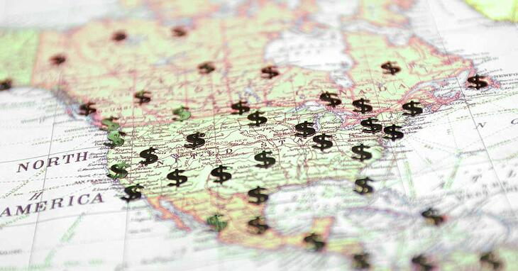money-united-states-usa-map